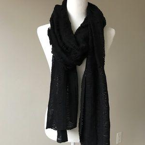 Miss Me Black Knit Scarf